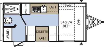 2017 Coachmen Clipper 16CFB floorplan