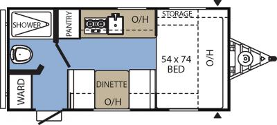 2017 Coachmen Clipper 16FB floorplan