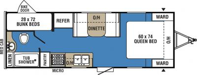 2017 Coachmen Clipper 21BH floorplan