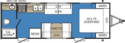 2017 Coachmen Clipper 21FQ floorplan