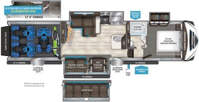 2017 Grand Design Momentum 394M floorplan