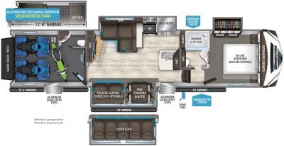 2017 Grand Design Momentum 395M floorplan