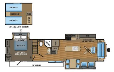 2017 Jayco Jay Flight Bungalow 40LOFT floorplan