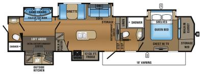 2017 Jayco North Point 379DBFS floorplan