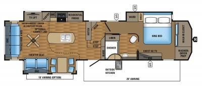 2017 Jayco Pinnacle 37RSTS floorplan