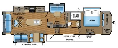 2017 Jayco Pinnacle 37MDQS floorplan