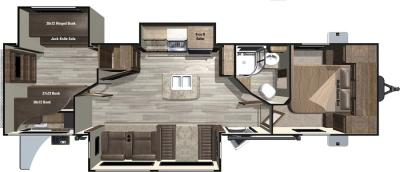 2017 Highland Ridge RV Light LT321BHTS floorplan