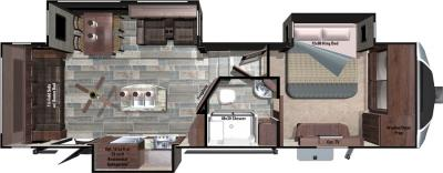 2017 Highland Ridge RV Open Range 3X 3X309RLS floorplan