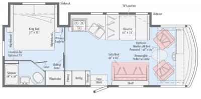 2017 Winnebago Vista 27PE floorplan