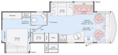 2017 Winnebago Vista 32YE floorplan