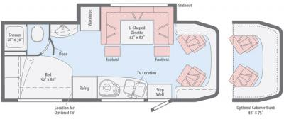 2017 Winnebago View 24J floorplan