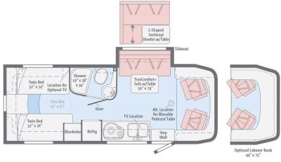 2017 Winnebago View 24V floorplan