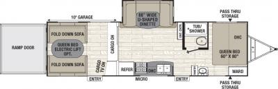 2017 Coachmen Freedom Express Blast 301BLDS floorplan