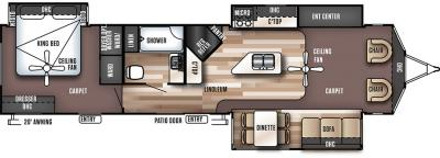 2018 Forest River Wildwood Lodge 393FLT floorplan