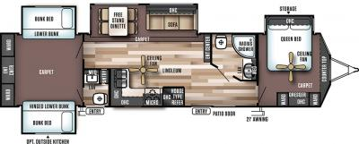2018 Forest River Wildwood Lodge 404X4 floorplan