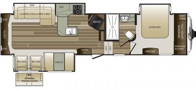 2019 Keystone Cougar 327RES floorplan