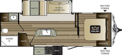 2018 Keystone Cougar XLite 26RBI floorplan
