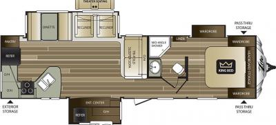 2018 Keystone Cougar XLite 33MLS floorplan