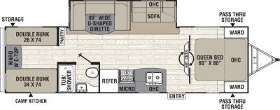 2019 Coachmen Freedom Express 292BHDS floorplan