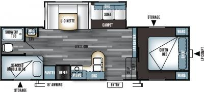 2018 Forest River Salem 26DDSS floorplan