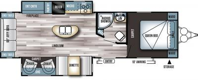 2018 Forest River Salem 27REIS floorplan