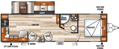 2018 Forest River Salem 27RKSS floorplan