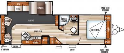 2018 Forest River Salem 27RLSS floorplan