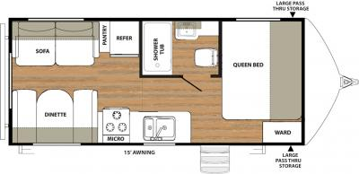 2018 Forest River Vibe 207RD floorplan