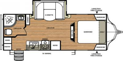 2018 Forest River Vibe 221RBS floorplan