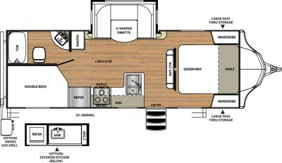 2018 Forest River Vibe 245BHS floorplan
