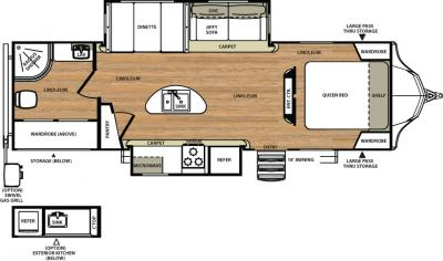 2018 Forest River Vibe 279RBS floorplan