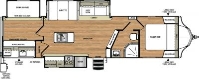 2018 Forest River Vibe 313BHS floorplan