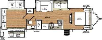 2018 Forest River Vibe 323QBS floorplan