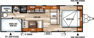 2018 Forest River Salem Cruise Lite 261BHXL floorplan