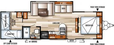 2018 Forest River Salem Cruise Lite 273QBXL floorplan