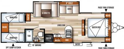 2018 Forest River Salem Cruise Lite 282QBXL floorplan