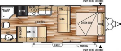 2018 Forest River Salem Cruise Lite T241QBXL floorplan