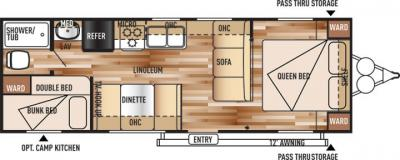 2018 Forest River Salem Cruise Lite T261BHXL floorplan