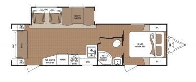 2019 Dutchmen Aspen Trail 2860RLS floorplan