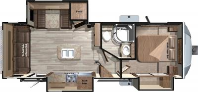 2018 Highland Ridge RV Light LF268TS floorplan