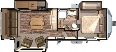 2018 Highland Ridge RV Light LF297RLS floorplan
