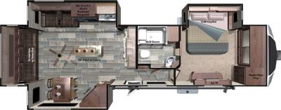 2018 Highland Ridge RV Open Range 3X 3X349RLS floorplan