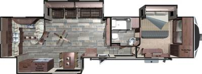 2018 Highland Ridge RV Open Range 3X 3X388RKS floorplan