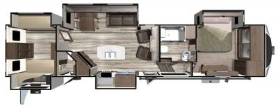 2018 Highland Ridge RV Open Range 3X 3X427BHS floorplan