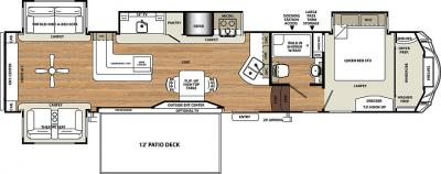 2018 Forest River Sandpiper 369KBAR floorplan