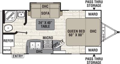 2019 Coachmen Freedom Express 192RBS floorplan