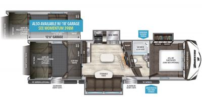 2019 Grand Design Momentum 348M floorplan