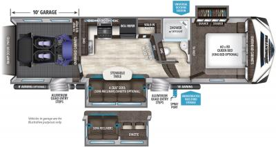 2019 Grand Design Momentum 327M floorplan