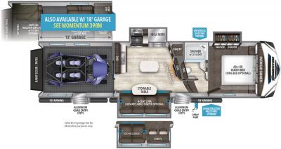 2019 Grand Design Momentum 349M floorplan