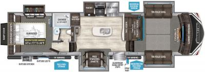 2019 Grand Design Momentum 376TH floorplan